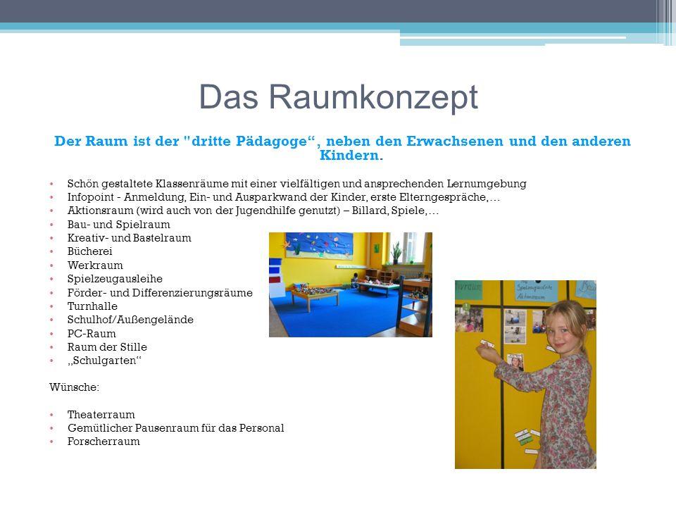 Das Raumkonzept Der Raum ist der dritte Pädagoge , neben den Erwachsenen und den anderen Kindern.