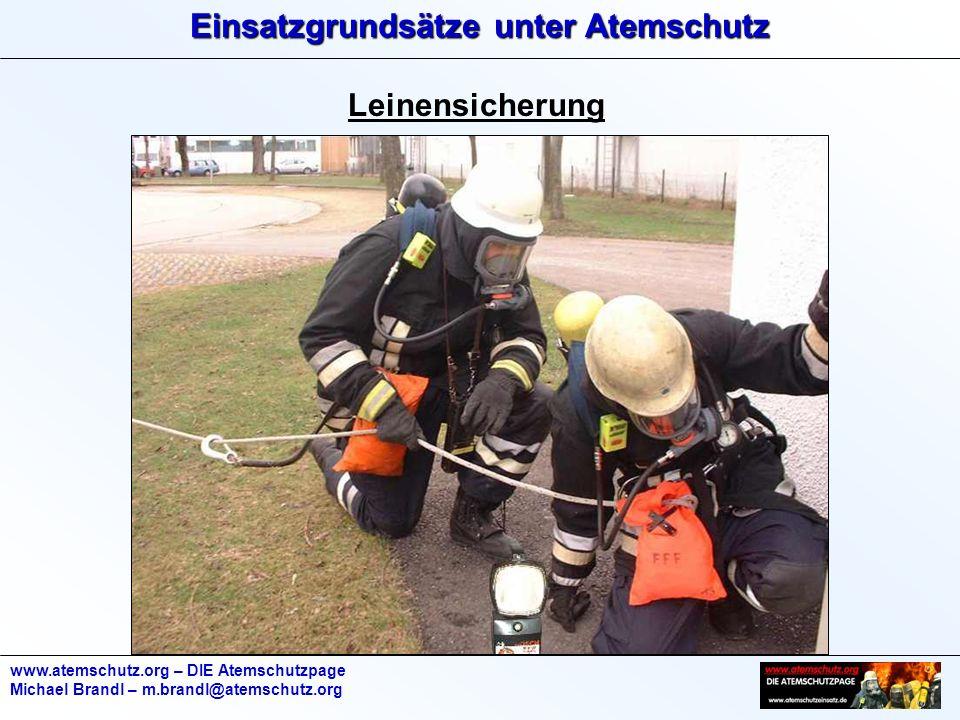 Leinensicherung www.atemschutz.org – DIE Atemschutzpage