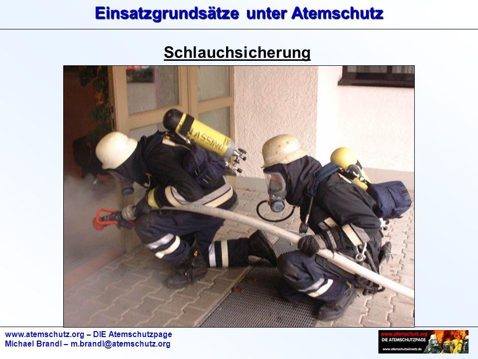 Schlauchsicherung www.atemschutz.org – DIE Atemschutzpage