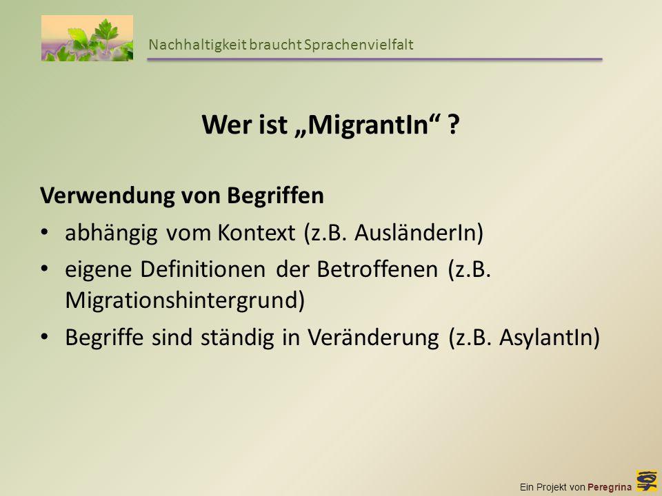 """Wer ist """"MigrantIn Verwendung von Begriffen"""