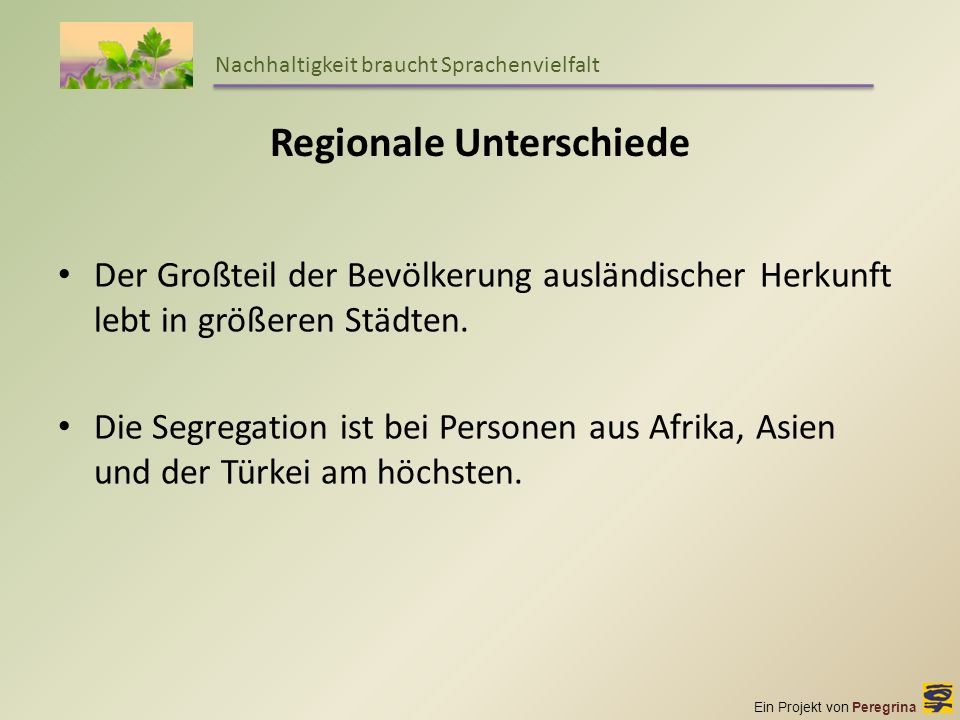 Regionale Unterschiede