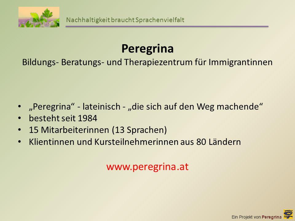 Peregrina Bildungs- Beratungs- und Therapiezentrum für Immigrantinnen