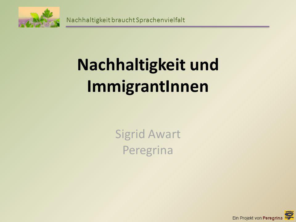 Nachhaltigkeit und ImmigrantInnen