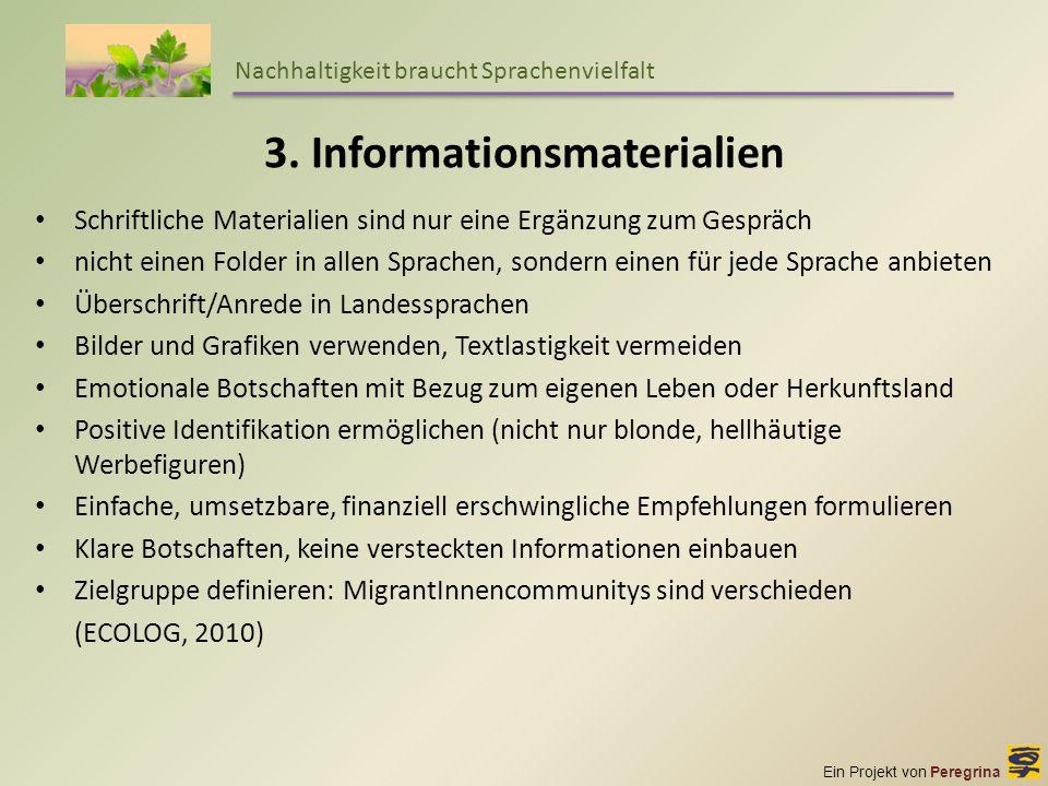 3. Informationsmaterialien