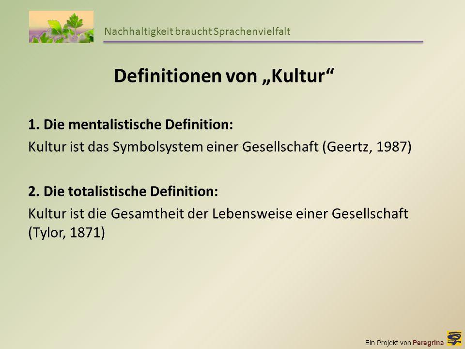 """Definitionen von """"Kultur"""