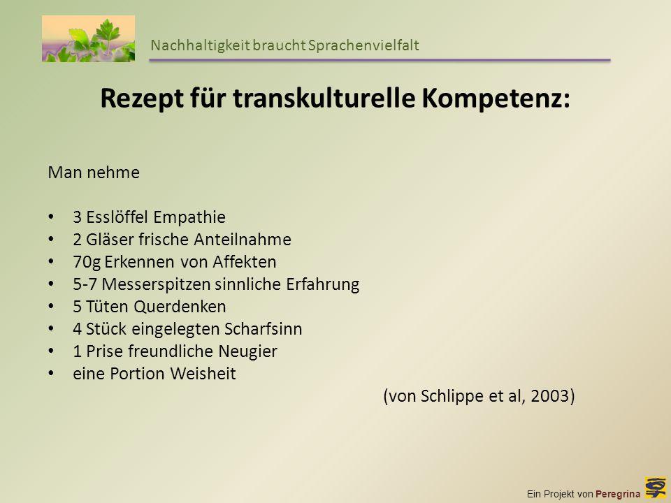 Rezept für transkulturelle Kompetenz: