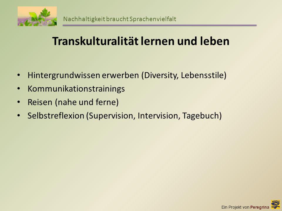 Transkulturalität lernen und leben