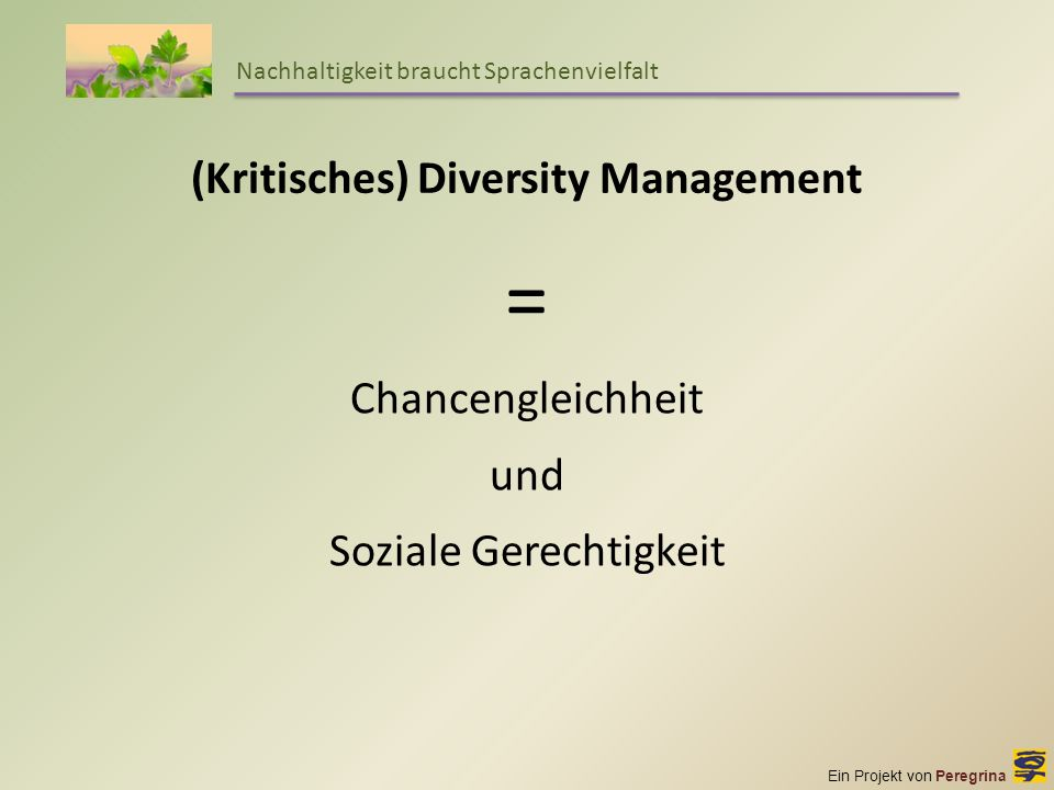 (Kritisches) Diversity Management