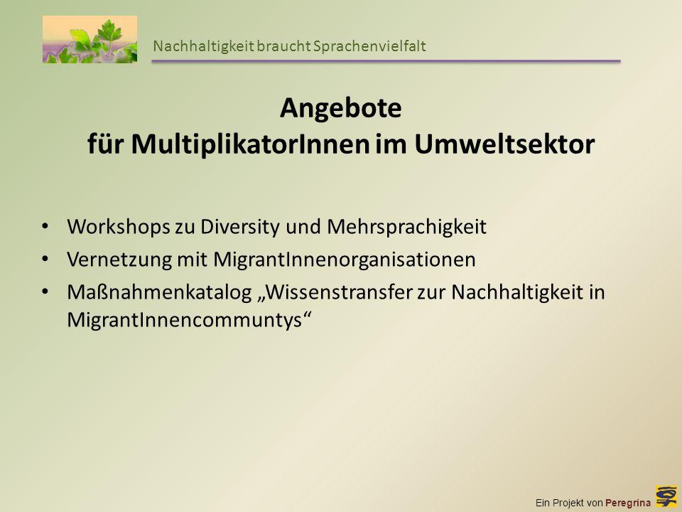 Angebote für MultiplikatorInnen im Umweltsektor