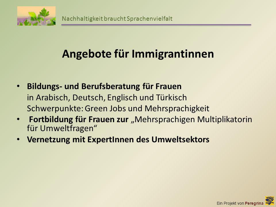 Angebote für Immigrantinnen