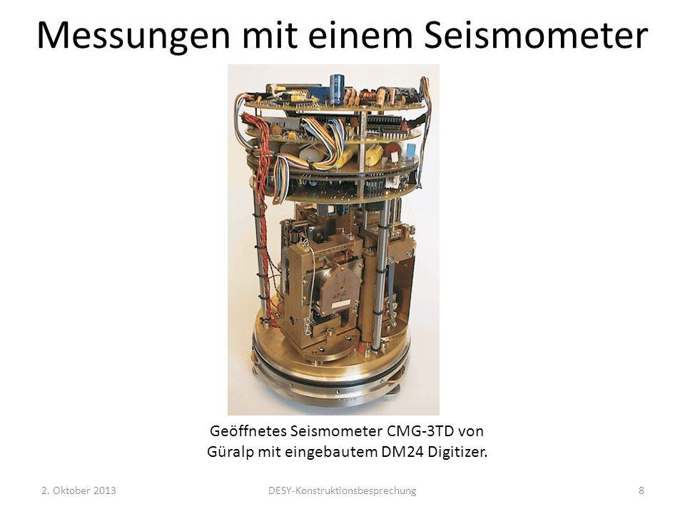 Messungen mit einem Seismometer