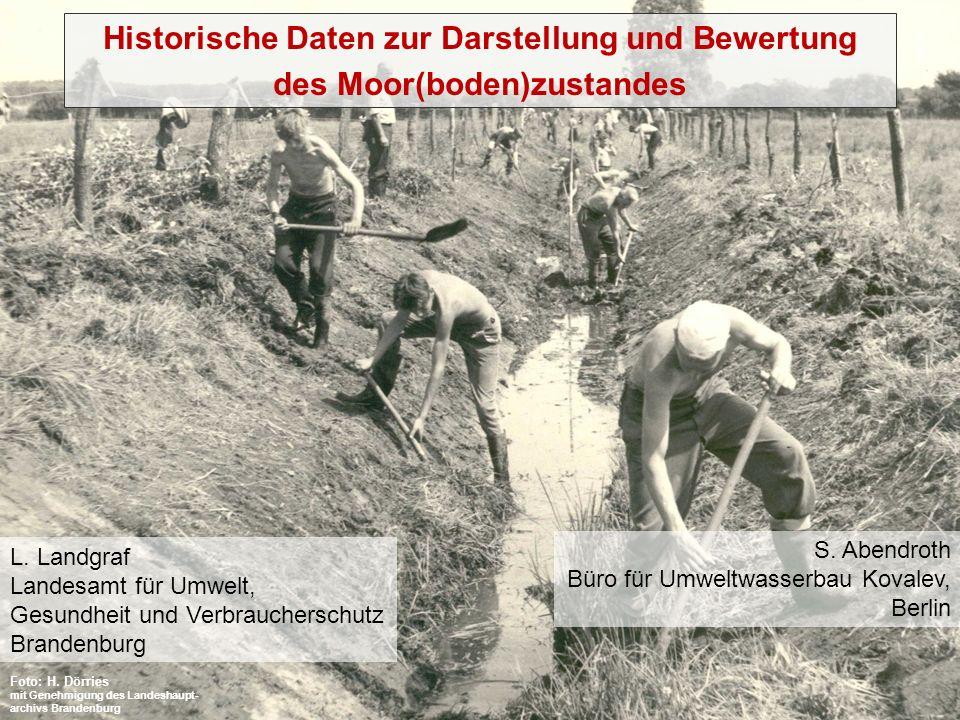 Historische Daten zur Darstellung und Bewertung
