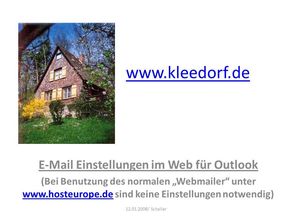 E-Mail Einstellungen im Web für Outlook
