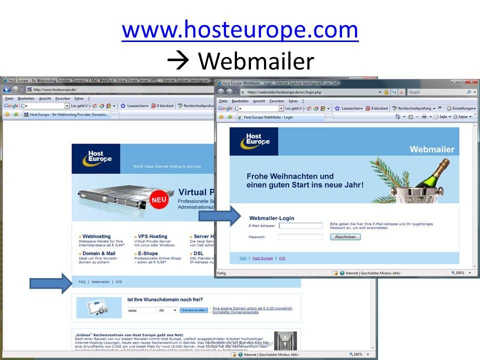 www.hosteurope.com  Webmailer