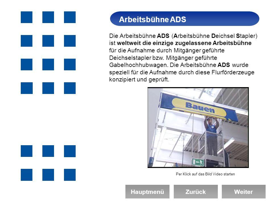 Arbeitsbühne ADS Arbeitssicherheit