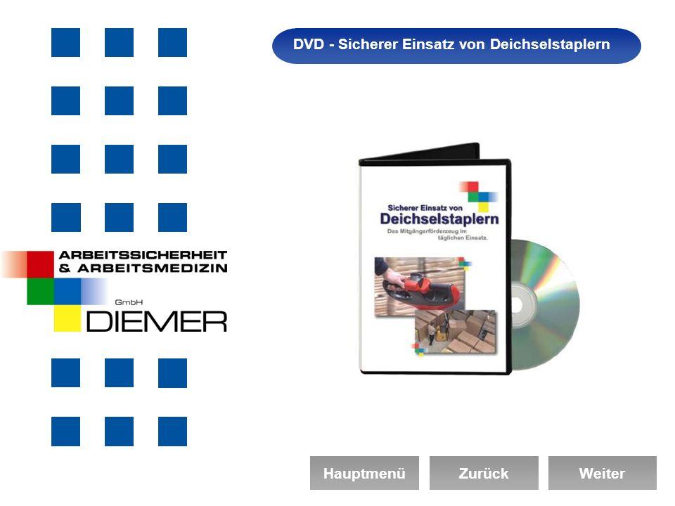 Arbeitssicherheit DVD - Sicherer Einsatz von Deichselstaplern