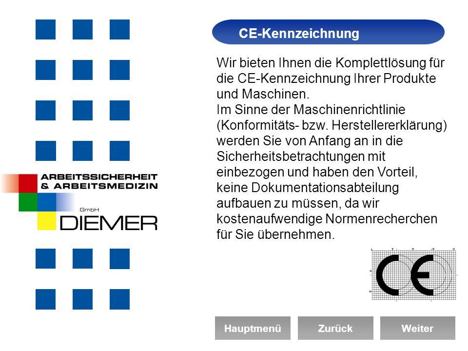 CE-Kennzeichnung Arbeitssicherheit