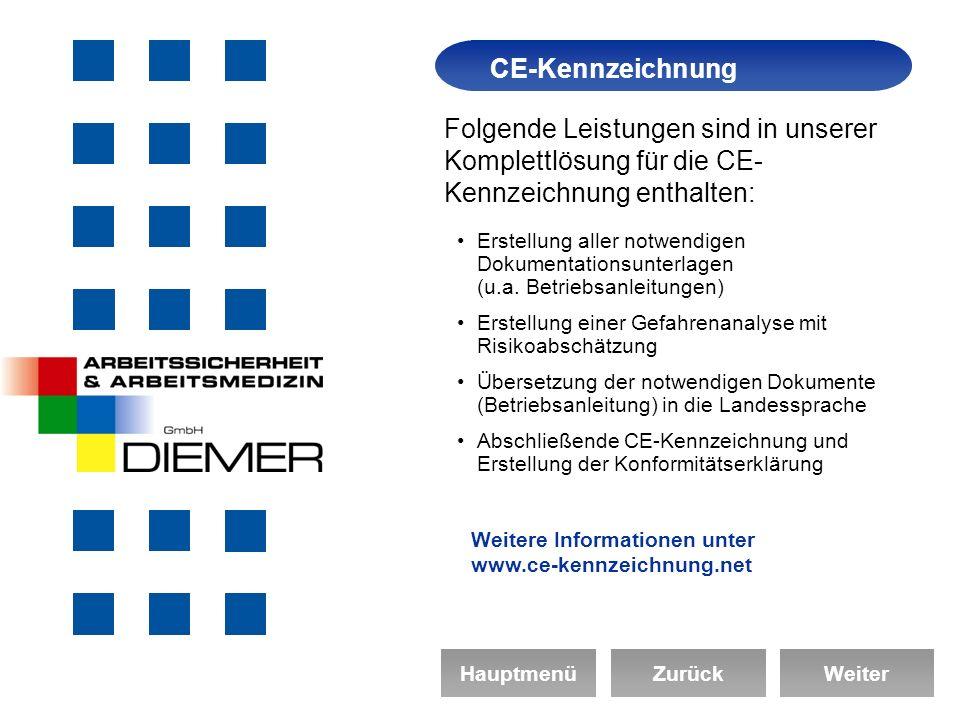 Arbeitssicherheit CE-Kennzeichnung