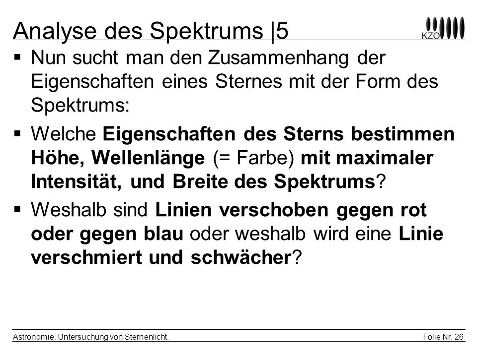 Analyse des Spektrums |5