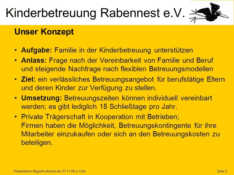 Kinderbetreuung Rabennest e.V.