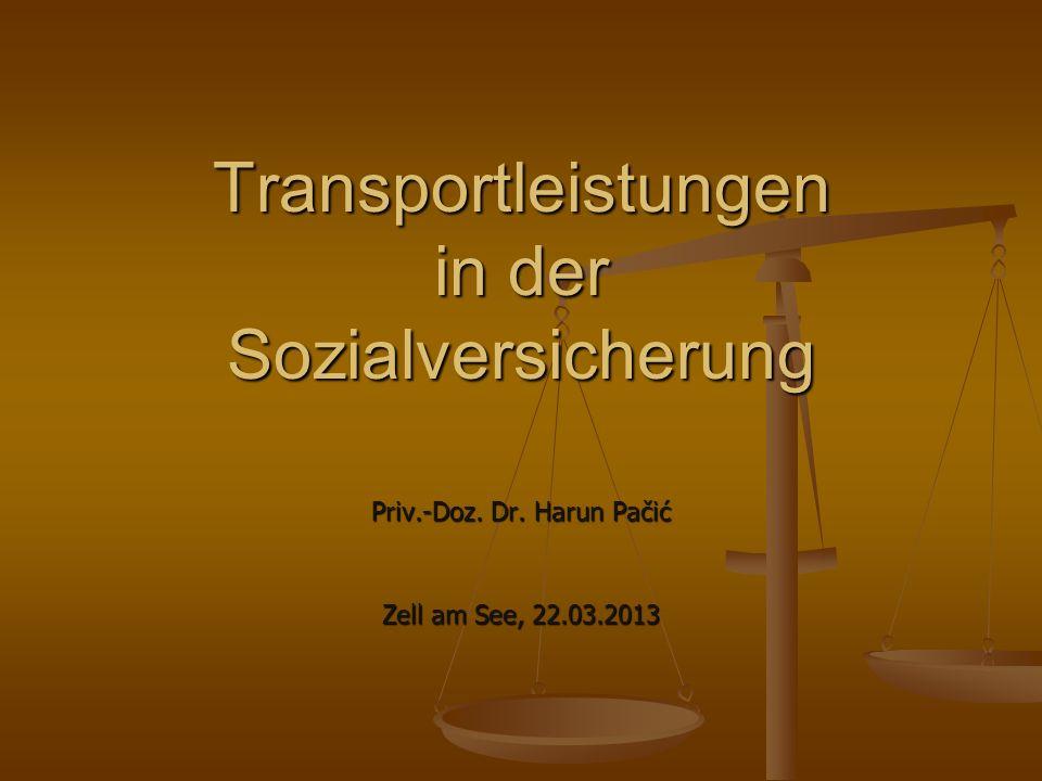 Transportleistungen in der Sozialversicherung