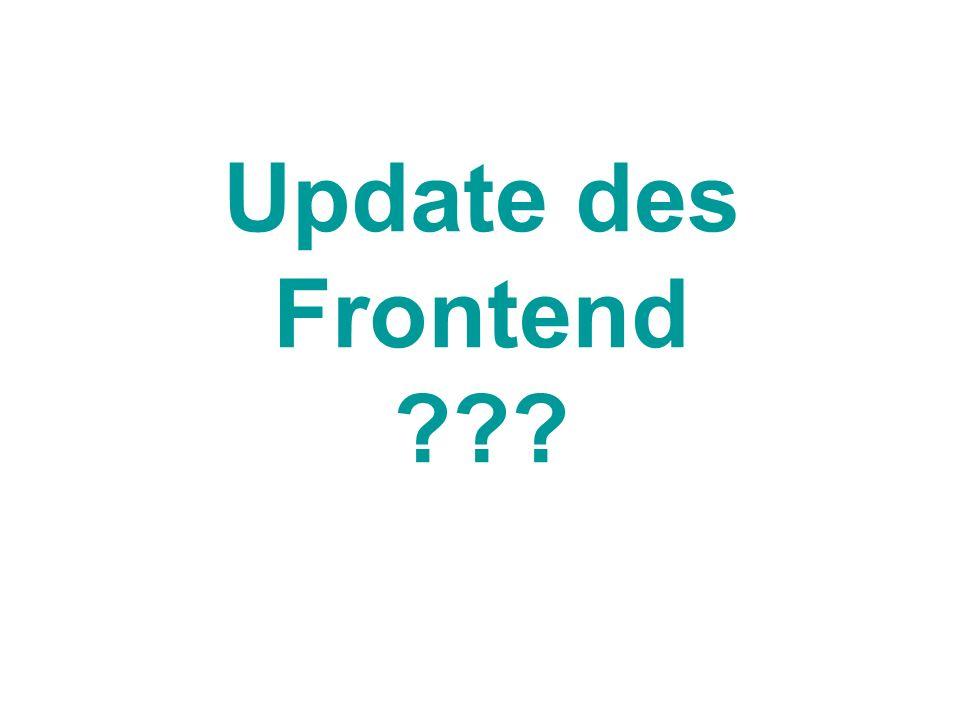 Update des Frontend