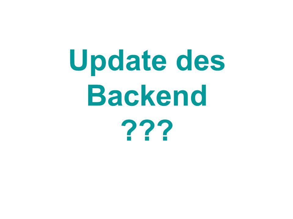 Update des Backend