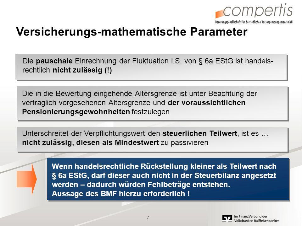 Versicherungs-mathematische Parameter