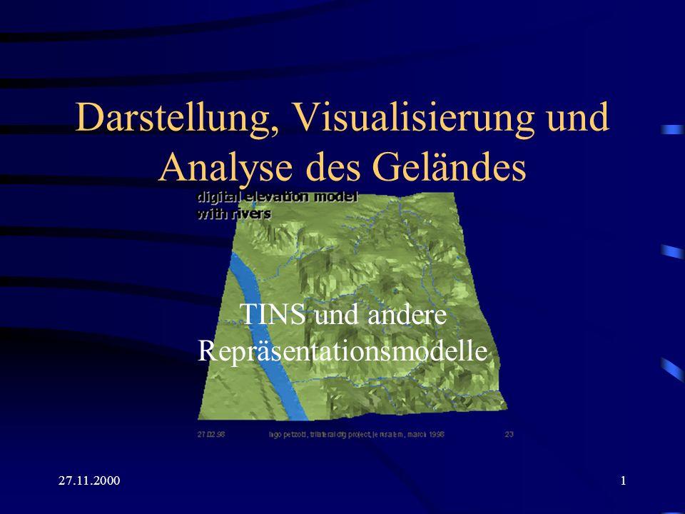 Darstellung, Visualisierung und Analyse des Geländes