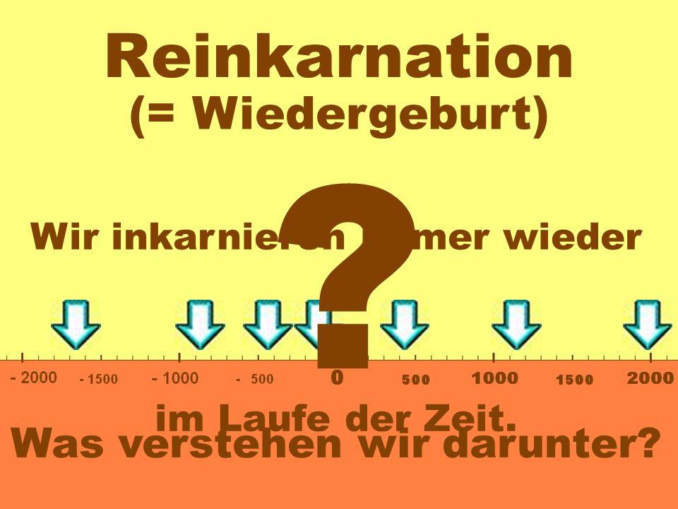 Reinkarnation (= Wiedergeburt) Was verstehen wir darunter