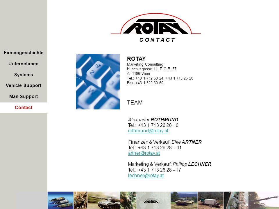 C O N T A C T ROTAY TEAM Firmengeschichte Unternehmen Systems
