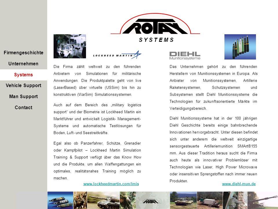 S Y S T E M S Firmengeschichte Unternehmen Systems Vehicle Support