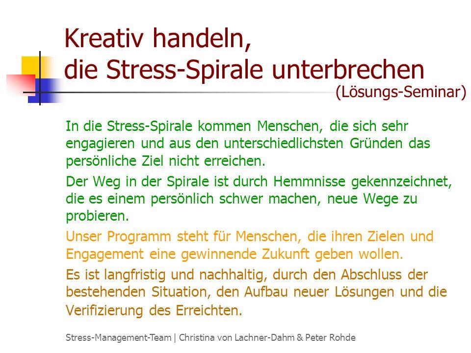 Kreativ handeln, die Stress-Spirale unterbrechen