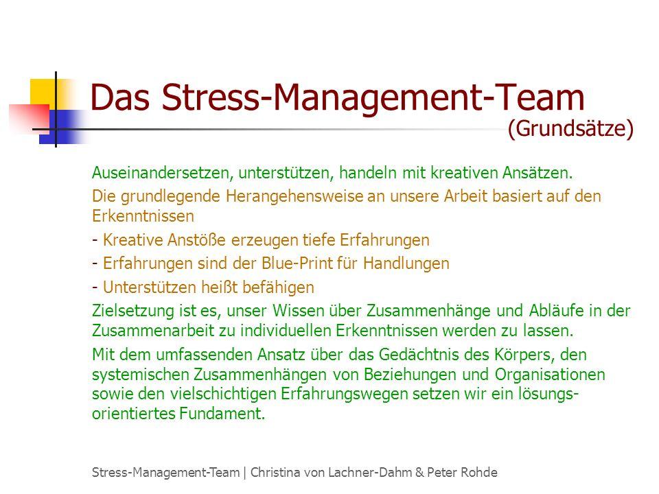 Das Stress-Management-Team