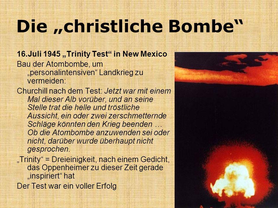 """Die """"christliche Bombe"""