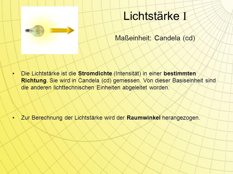 Maßeinheit: Candela (cd)