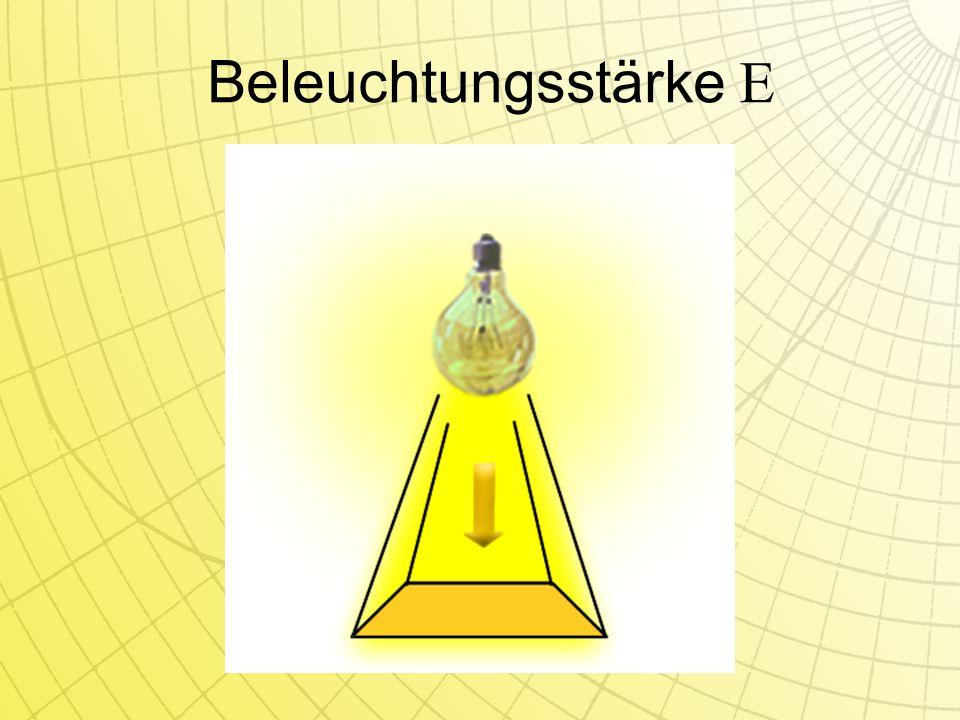 Beleuchtungsstärke E