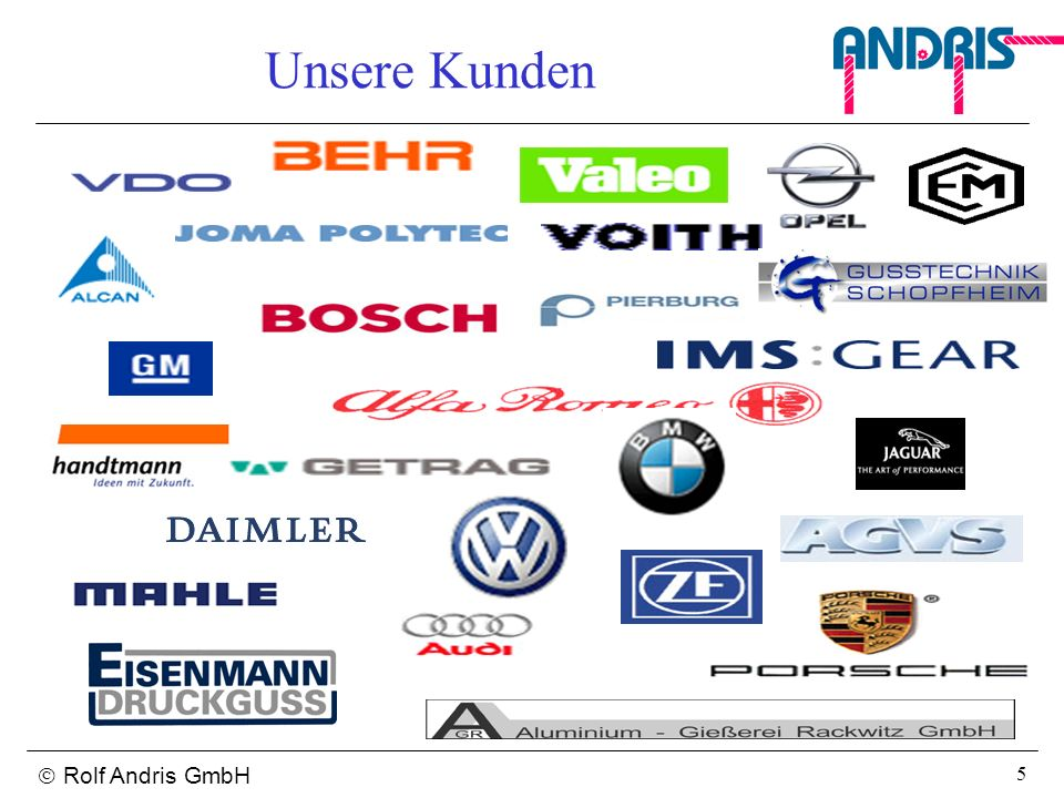 Unsere Kunden  Rolf Andris GmbH