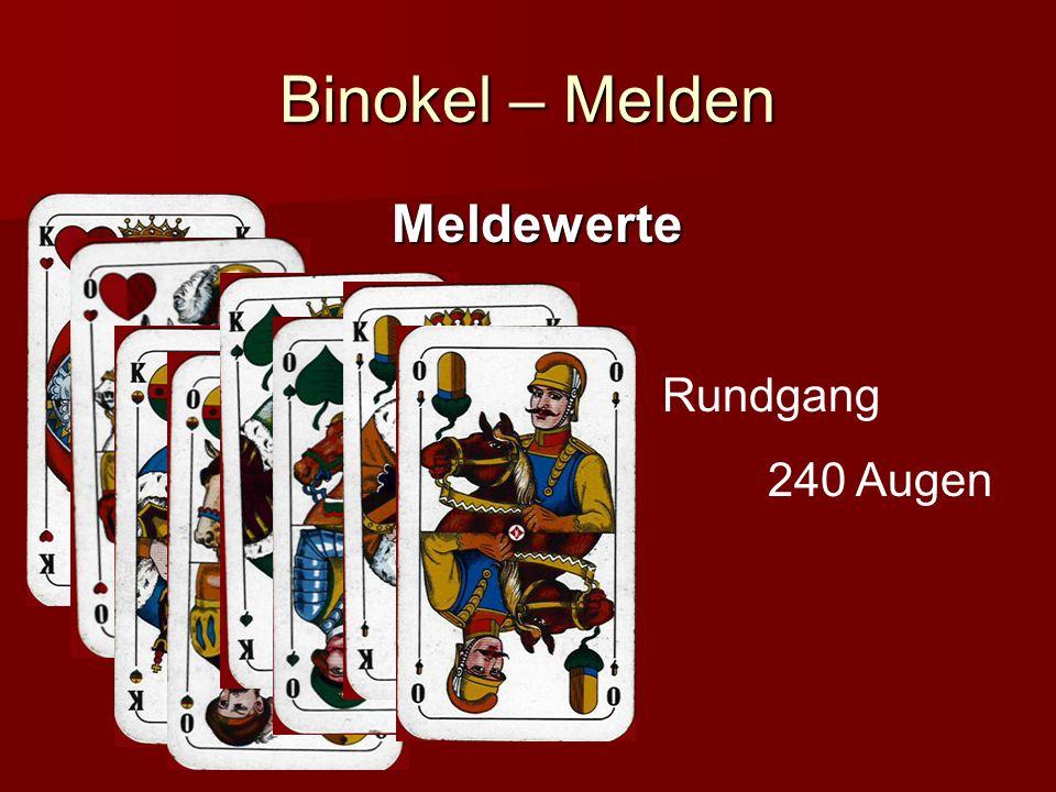 Binokel – Melden Meldewerte Rundgang 240 Augen