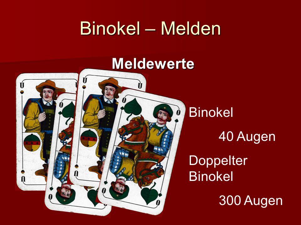 Binokel – Melden Meldewerte Binokel 40 Augen Doppelter Binokel