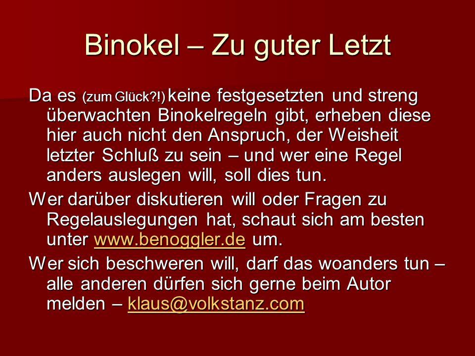 Binokel – Zu guter Letzt