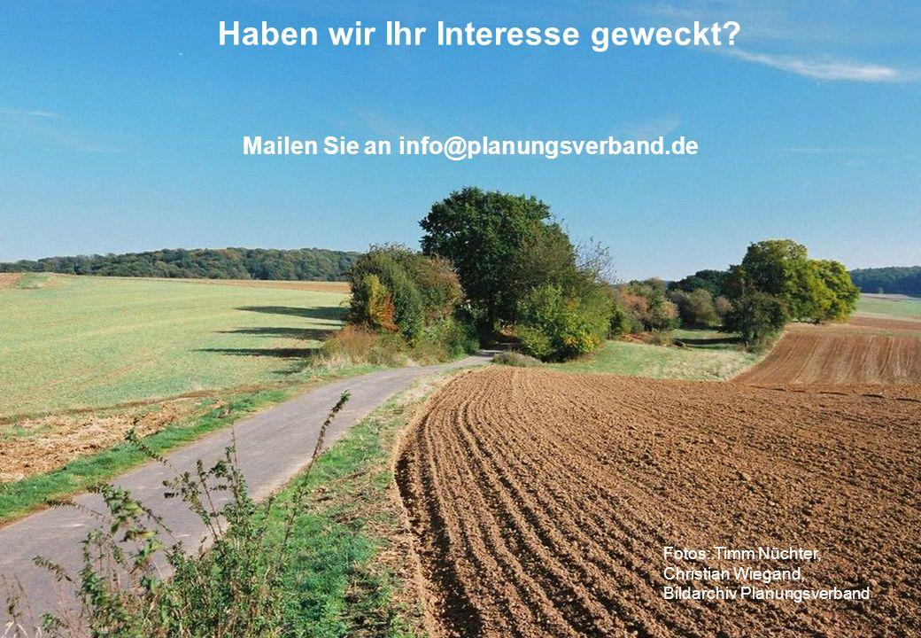 Haben wir Ihr Interesse geweckt Mailen Sie an info@planungsverband.de