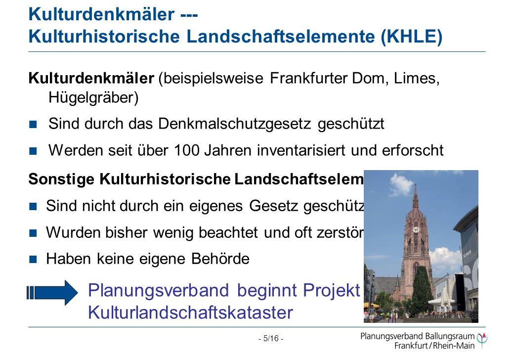 Kulturdenkmäler --- Kulturhistorische Landschaftselemente (KHLE)
