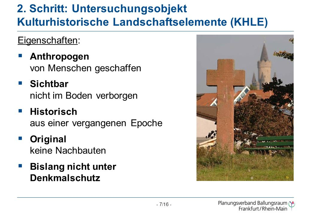2. Schritt: Untersuchungsobjekt Kulturhistorische Landschaftselemente (KHLE)