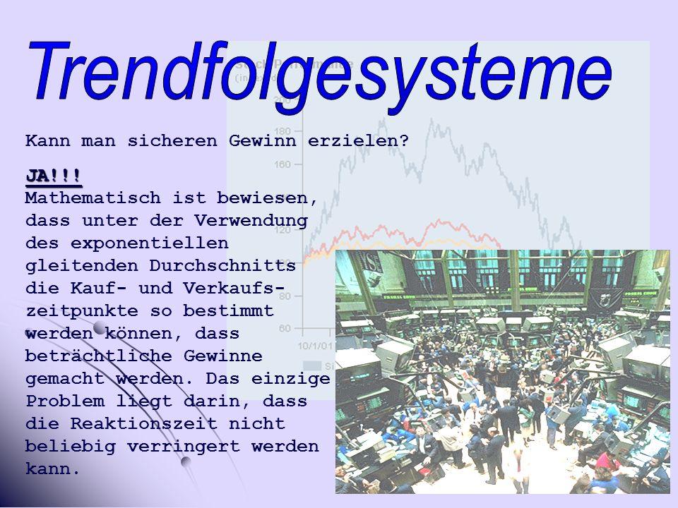 Trendfolgesysteme Kann man sicheren Gewinn erzielen JA!!!