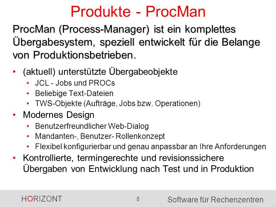Produkte - ProcMan ProcMan (Process-Manager) ist ein komplettes Übergabesystem, speziell entwickelt für die Belange von Produktionsbetrieben.