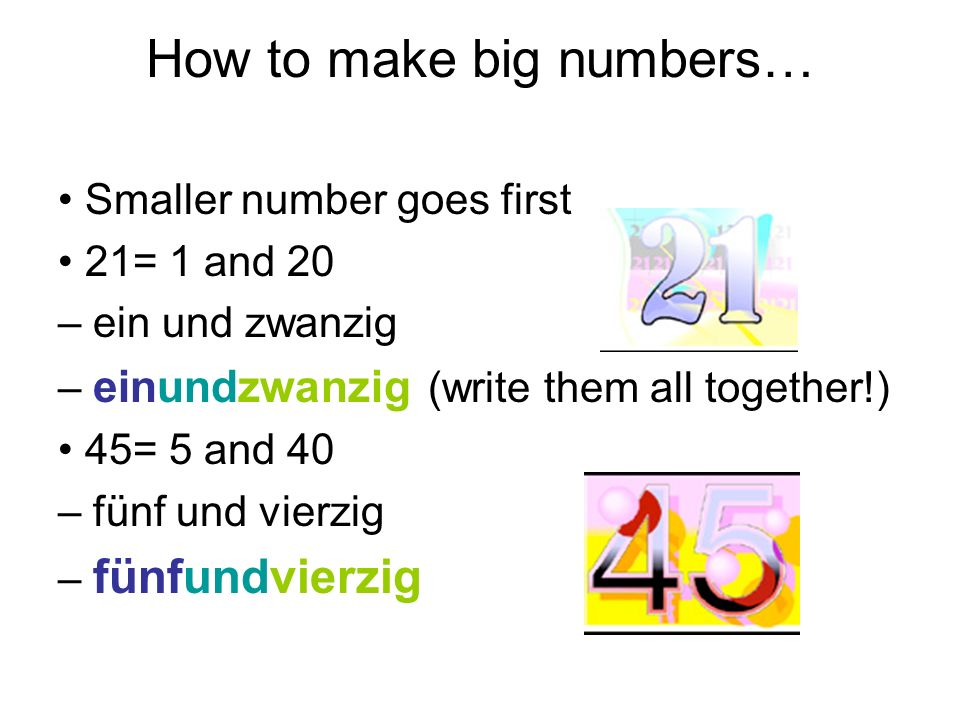 How to make big numbers…