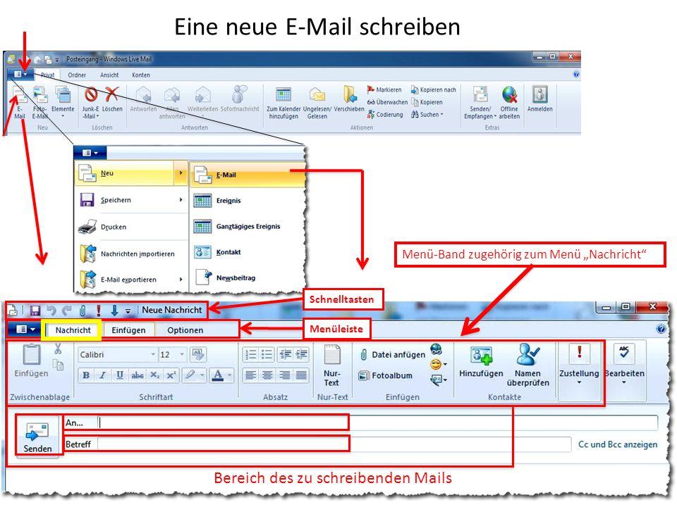 Eine neue E-Mail schreiben