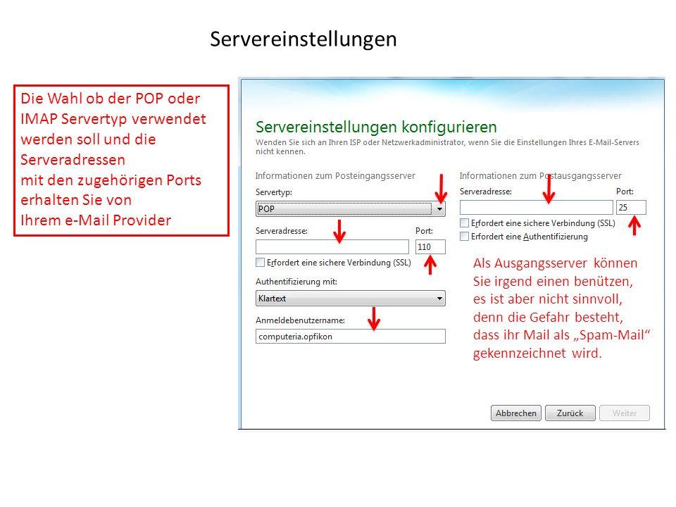 Servereinstellungen