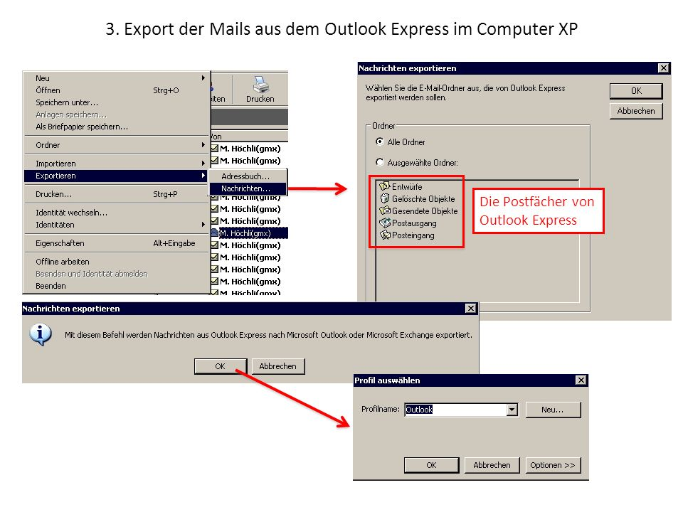 how to export outlook 2007 emails to windows live mail